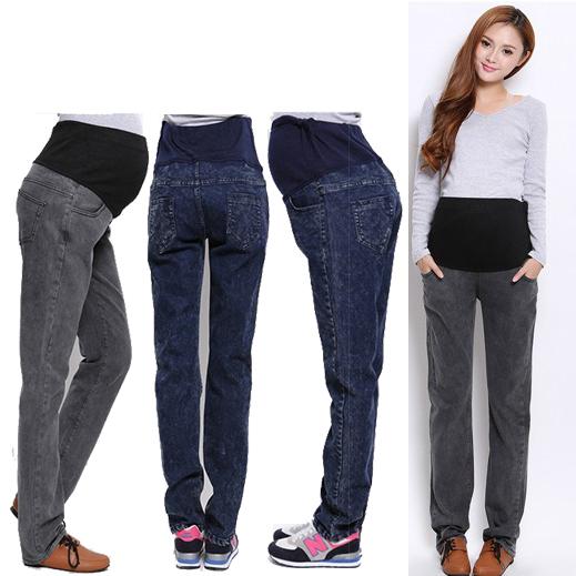 ms el tamao mxxl de los pantalones vaqueros de maternidad nuevos pantalones de maternidad pantalones de ropa de invierno para las mujeres
