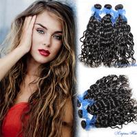 Cheap 3 Bundles Peruvian Natural Wave 100% Peruvian Virgin Hair Natural Curly Weave Hair 3pcs Lot Free Shipping