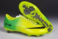 Free Shipping 2014 Brazil Word Cup Football Soccer Shoes Cleats Boots FG Yellow/Green 2006