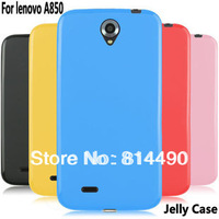 High quality luxury jelly silicon protective case soft cover for lenovo a850 smart phone free shipping