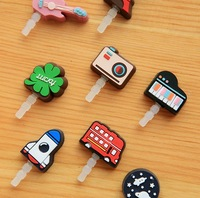 Free Shipping! 100pcs/lot Anti Dust Cap for iPhone 4 Dustproof Stopper for Earphone with Retail Package