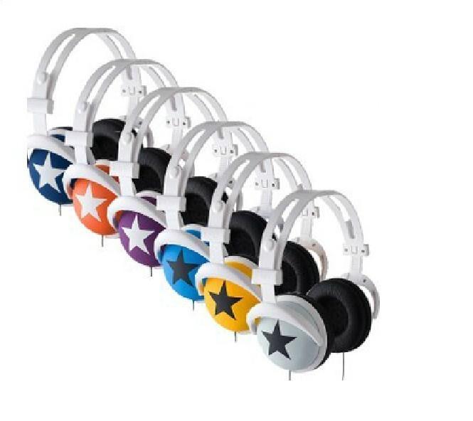 Mix Style 3.5mm Star Earphone Headphone Headset Ear Hook Earphone For MP4 MP3 Phone Laptop Retail & Wholesale(China (Mainland))