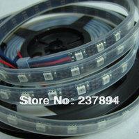Fast Shipping 5M 300 LED 60LED/M WS2811 Black PCB Addressable 5050 RGB SMD Tube Waterproof strip Light IP67