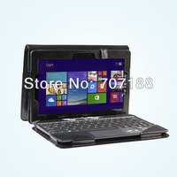 New Black 2in1 Folio Stand PU With Keyboard Cover For Asus Transformer Book T100TA,Free shipping!