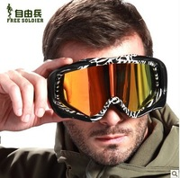 Whosale Double Glasses Anti-fog Anti-UV Professional Ski Goggles Wind Goggles