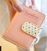 Wallet women's day clutch 2013 new arrival women's polka dot zipper buckle gentlewomen wallet  purse women wallet women