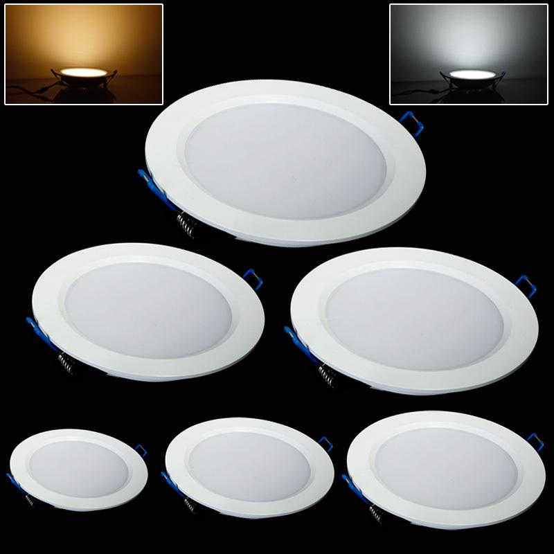 Fashion 7W/9W/12W/15W/18W/25W led ceiling light cool white/warm white AC85-265V panel light(China (Mainland))