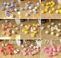 10C available 3cm Artificial PE small rose Flower Heads Wedding wall car decoration DIY garland wreathe