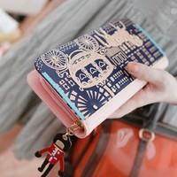 Hot-selling personality carriage long design women's wallet  purse women wallet women