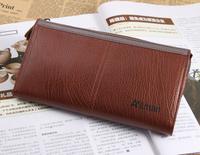men wallets cowhide long design genuine leather commercial Men day clutch boys wallet