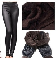 NEW Retail 2013 Girl's trousers Winter-Fall Women's PU Leather Pants Winter Warm leggings Retail Dorp Shipping