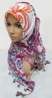 QSF002 Popular new dot  voile square islamic headscarf;muslim scarf