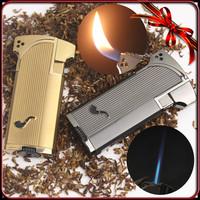 Jobon Windproof  Metal Jet Double Flame Cigarette Cigar Smoking Pipe Butane Gas Lighter