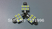 Freeshipping 10pcs Festoon 31mm 6 SMD 5050 LED Car Bulb interior Reading License plate Trunk Lamp 12V White #OS1