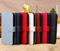 Practical Card/Cash Holder cover, Flip Wallet Style Lichee Pattern Leather Case For iPhone5C wholesale, Free shipping 10pcs/lot