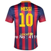 New!La Liga 13/14,Support Customize Name Number,#10 Messi long short sleeve home kit away kit,best thai quality,free shipping