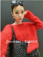 2013 Women's Autumn And Winter Clothes Korean Ladies Fashion Thick Fleece Sweater Coat , #1615 Free Shipping