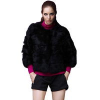 free shipping luxury short fur tops faux Imitation rabbit fur coat  fashion warm winter coat