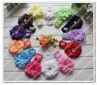 baby Peony Flower headband,Hair Bow Crochet Headband,10pcs/lot