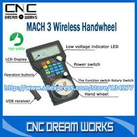 Mach3 USB MPG Pendant For Mach 3 4 Axis Engraving CNC Wireless Handwheel V0104