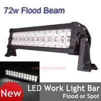 NEW 72w LED Work Light Bar Driving Lamp Offroad 4WD Truck Lamp Flood Beam DC10-30V Waterproof IP67