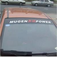 Mugen power reflective windshield glass stickers back rise