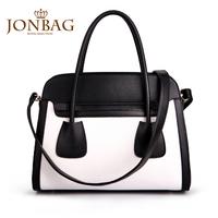 2013 women's handbag female shoulder bag fashion handbag with the trend of black and white brief bag female