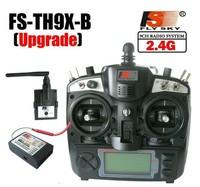 Free shipping+2.4G 9ch system Flysky FS rc radio Transmitter & Receiver Combo 9ch remtoe control FS-TH9X TH9XB TX + RX