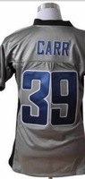 Grey Jersey 39 Carr Men's Elite/Game Football Jersey Stitchwork Number Wholesale Store american Football Jerseys