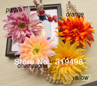 Free shipping (60pcs/lot )  Artificial Silk  Simulation gerbera flowers Heads Dia. 14cm four colours