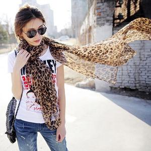 2013 spring and autumn female silk scarf female ultra long paragraph leopard print silk chiffon scarf female cape muffler scarf(China (Mainland))