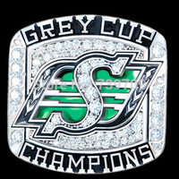 Accept Customized Free Shipping High Quality Replica Silver 2007 Saskatchewan Roughriders Championship Ring