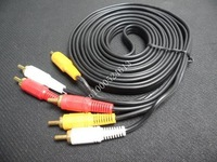 15m Good Quality Audio Video Stereo RCA AV Cable Free Shipping 20pcs