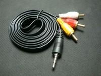 "3 pcs per lot 1/8"" 3.5mm Mini AV to 3 RCA Male Adapter Audio Video Cable 1.5m"