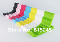 100pcs/ lot, DHL or EMS or Fedex, Foldable Keychain Mobile phone Holder Stand for iPhone and all Phone Pad- Multi Color
