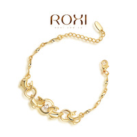 fashion yellow gold and rose gold plated dolphin and rings bracelet for women,christmas gift,ROXI 2060038505