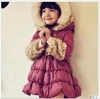 Wholesale Clothing female child gentlewomen slim waist hooded wadded jacket cotton-padded jacket