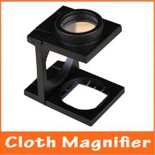 20X Full Metal Mini lupa soporte plegable de tela de detección de la lupa de bolsillo lupa con escala de medición 0.1 cm