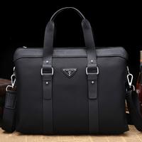 Man bag oxford fabric bag cowhide handbag business casual male bag messenger briefcase laptop bag