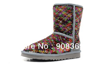 int'l Brand Classic Short Sparkles Sangria Multi Boots Mid cult 1002978 snow boots for women sheepskin and 100% wool inside
