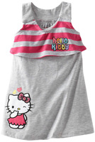 2014 summer new arrival lovely cartoon striped baby girl's cotton casual dress  5pcs/lot wholesale