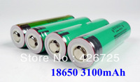 10PCS/lot Original Protected 18650 3100mah 3.7V li-ion rechargebale battery with PCB  for Panasonic Free Shipping