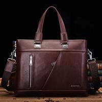 casual man bag horizontal portable cowhide shoulder bag messenger bag laptop bag