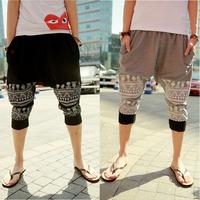 Men's Casual Pants Fashion Harem Pants Skulls Pattern 2014 New Arrival Free Shipping  Whole Sale Q298