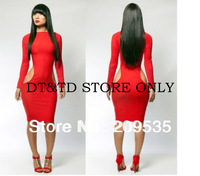 Free Shipping High Quality knitted Elastic Bandage Dress Sex Evening Party Dress A028