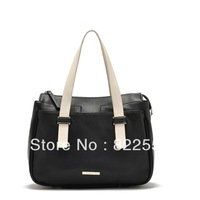 The new European and American fashionwomen handbags black handbag shoulder bag blue atmosphere of good quality, free shipping