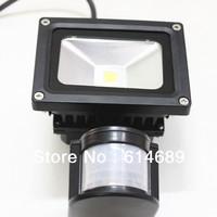 20pcs/lot 10W LED Flood light With PIR Sensor AC85-265V IP65 Waterproof  White/Warm White
