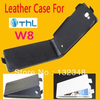 THL W8 Case cover  New High Quality Genuine Filp down pu Leather Covers Cases for THL W8 free shipping Black  white color