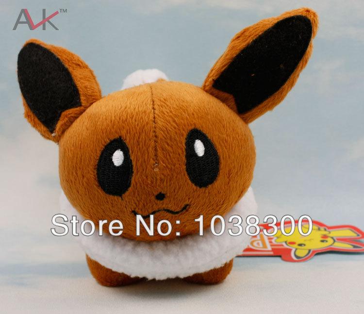 PP1006 High Quality Pokemon 100pcs/lot 5.5 EEVEE Pichaku Pocket Wizard Ibrahimovic plush doll(China (Mainland))