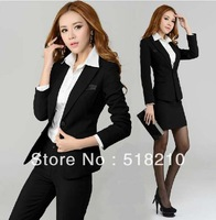 New Autumn Winter Ladies Career Pants Sets Work Wear Professional Form Suits Women Office Outerwear Plus Size XXXL